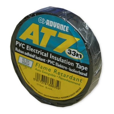 Advance AT7 PVC tape 15mm 33m zwart