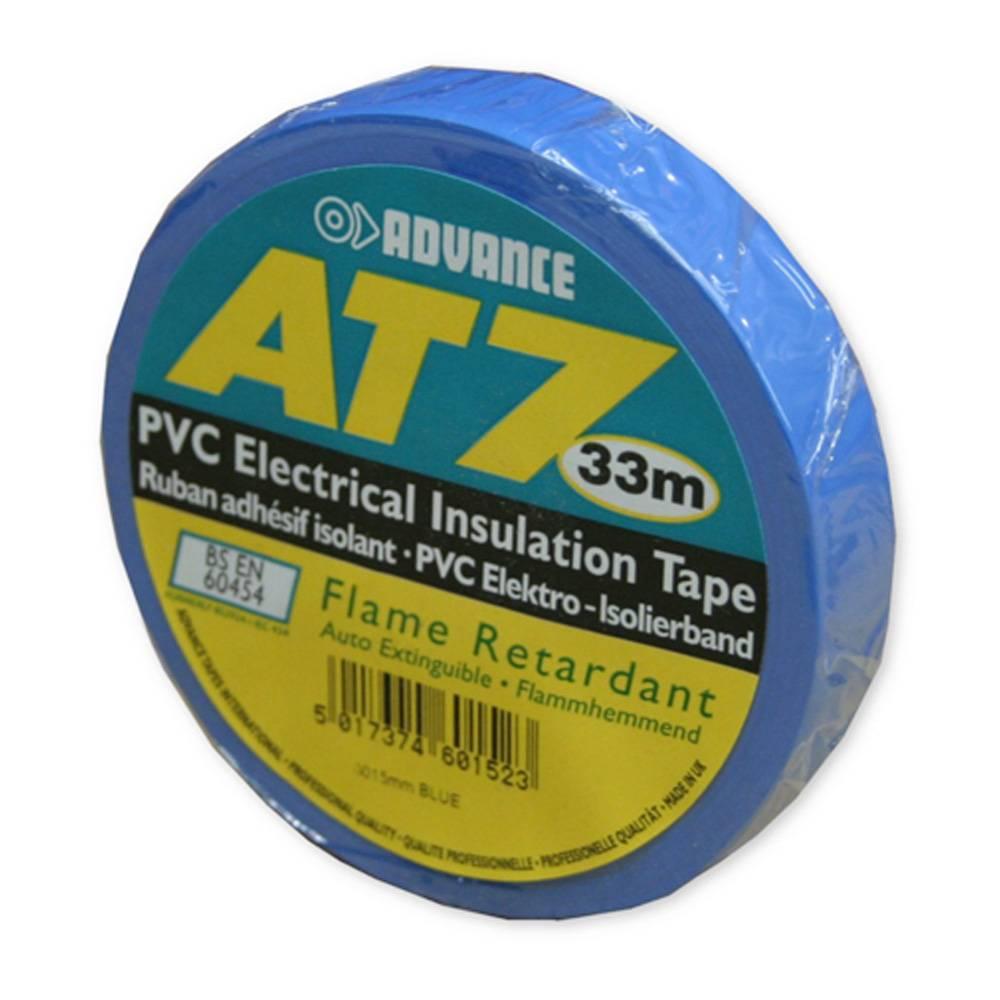 Image of Advance AT7 PVC tape 15mm 33m blauw