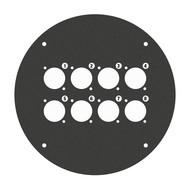 Adam Hall 70225D8 plaat voor 70225 met 8x D-size gat