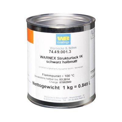 Penn Elcom Warnex verf zwarte spetterlak voor luidsprekers 1kg