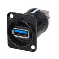 Neutrik NA USB3-B doorvoer chassisdeel zwart