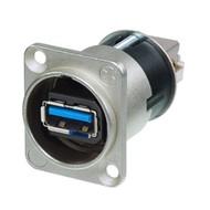 Neutrik NA USB3 doorvoer chassisdeel nikkel