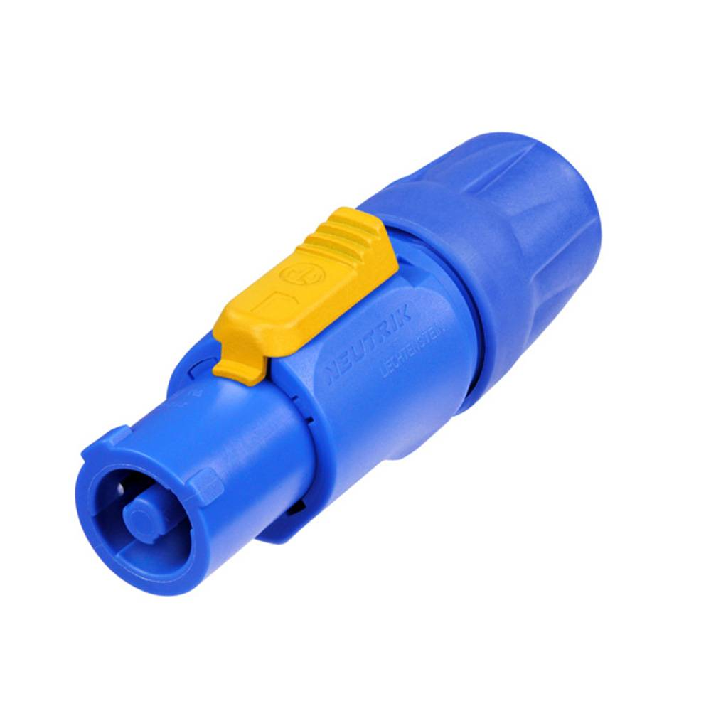Image of Connector Power Plug Male PVC Blauw