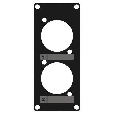 Caymon CASY105/B 2x D-size plaatje 1 space