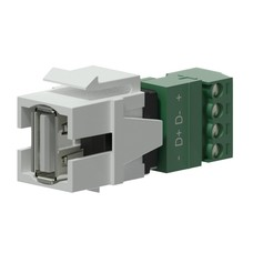 Procab VCK625/W Keystone USB A-4p connector wit