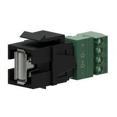 Procab VCK625/B Keystone USB A-4p connector zwart