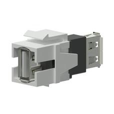 Procab VCK622/W Keystone USB A-A connector wit