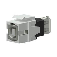 Procab VCK620/W Keystone USB A-B connector wit