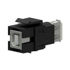 Procab VCK620/B Keystone USB A-B connector zwart