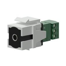 Procab VCK315/W Keystone mini-jack connector wit
