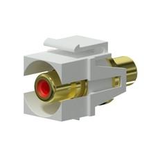 Procab VCK107P/W Keystone RCA connector wit