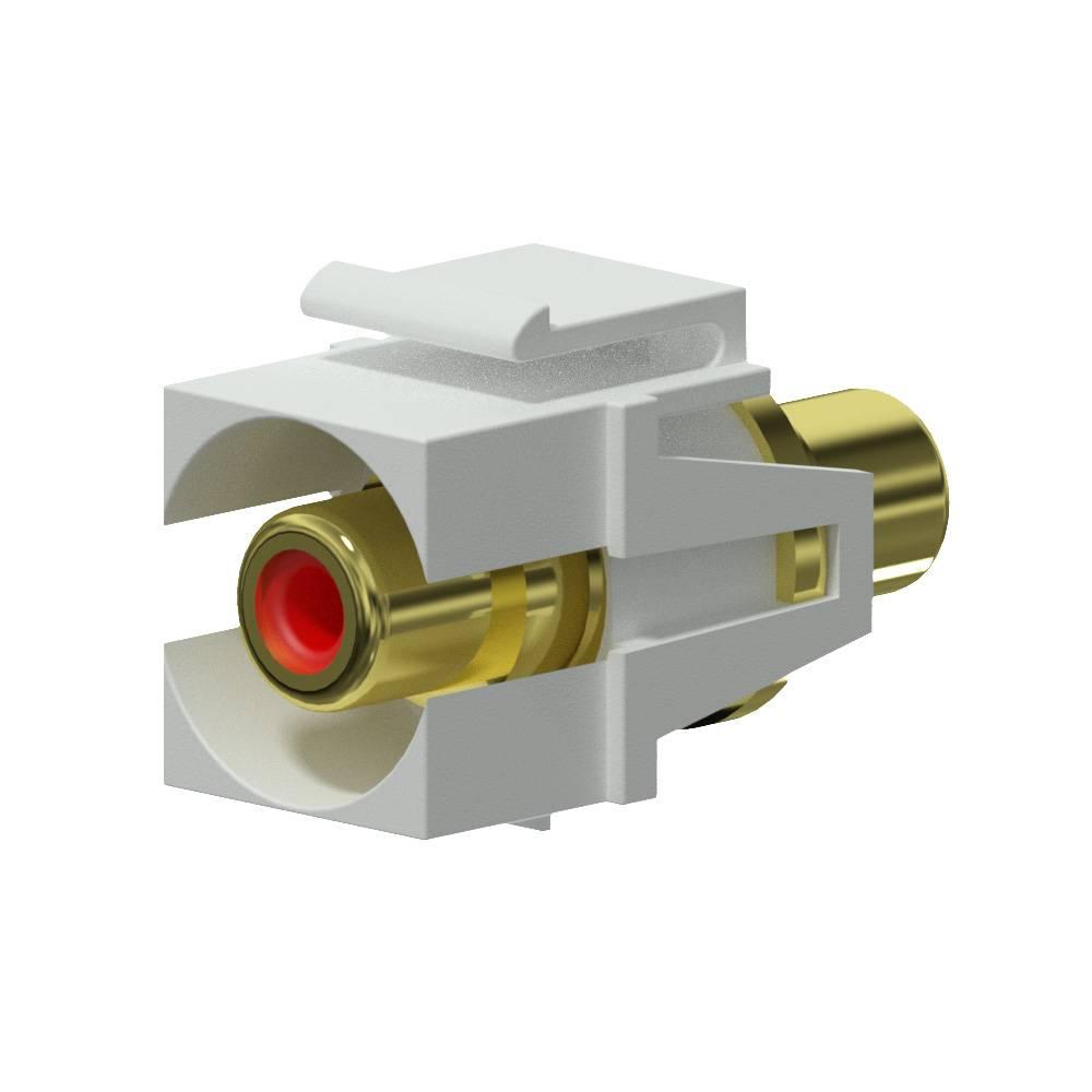 Procab VCK107P-W Keystone RCA connector wit