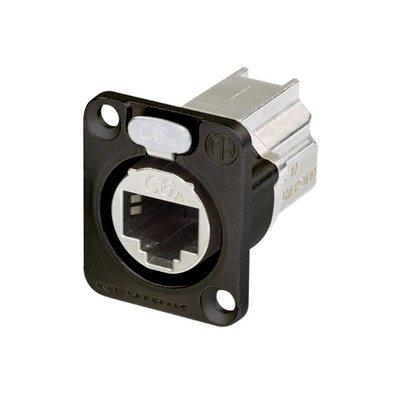 Neutrik NE8FDX-P6-B Ethernet CAT6E doorvoer chassisdeel zwart