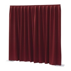 Showtec Pipe and drape Dimout 400x300cm geplooid rood