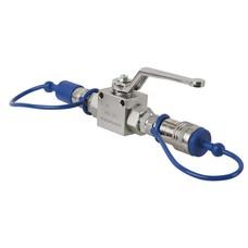 Showtec CO2 3/8 Q-Lock doorvoerkraan