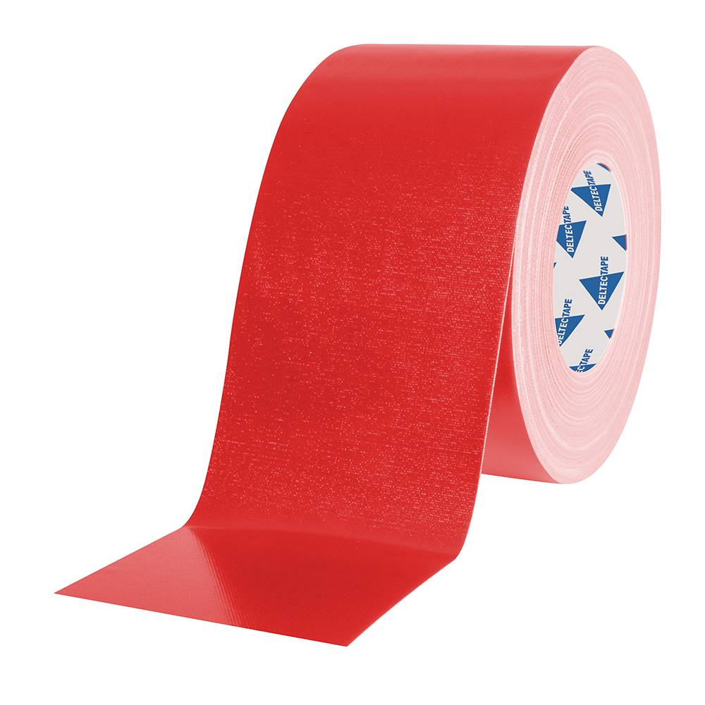 Image of Deltec Gaffa tape rol 100mm 50m rood