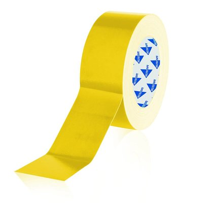 Deltec Gaffa tape rol 50mm 25m geel