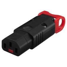 Monacor IEC C13 stekker met IEC lock
