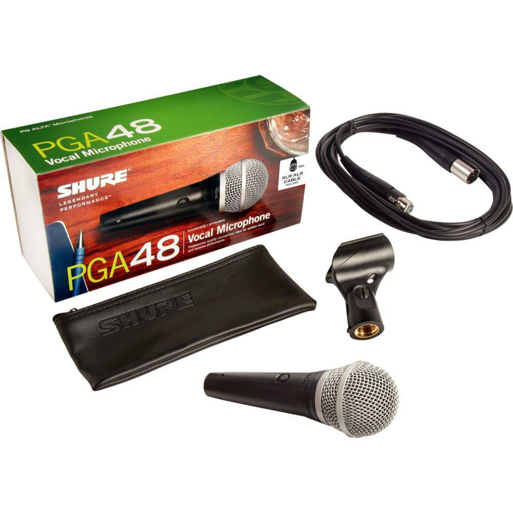 Shure PGA48-XLR dynamische zang- en spraakmicrofoon