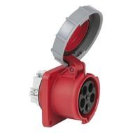 PCE CEE 63A 5-polige inbouw socket female IP67