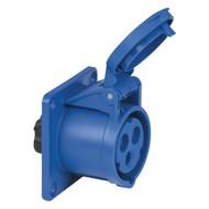 PCE CEE 16A 3-polige inbouw socket female blauw