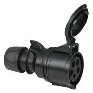 PCE CEE 32A 5-polige contrastekker Turbo Twist zwart