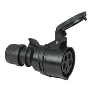 PCE CEE 16A 5-polige contrastekker Turbo Twist zwart
