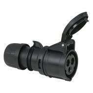 PCE CEE 16A 3-polige contrastekker Turbo Twist zwart