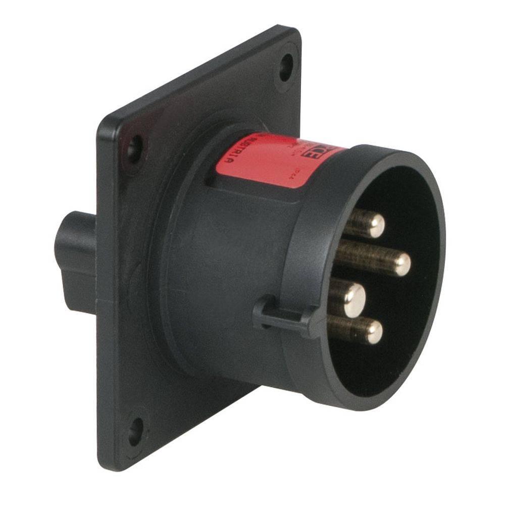 Image of PCE CEE 16A 4-polige inbouw socket male zwart
