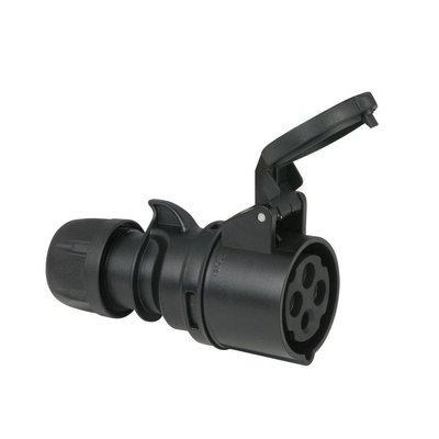 PCE CEE 16A 4-polige contrastekker zwart