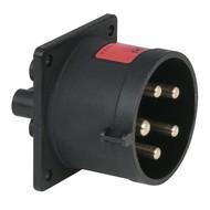 PCE CEE 32A 5-polige inbouw socket male zwart