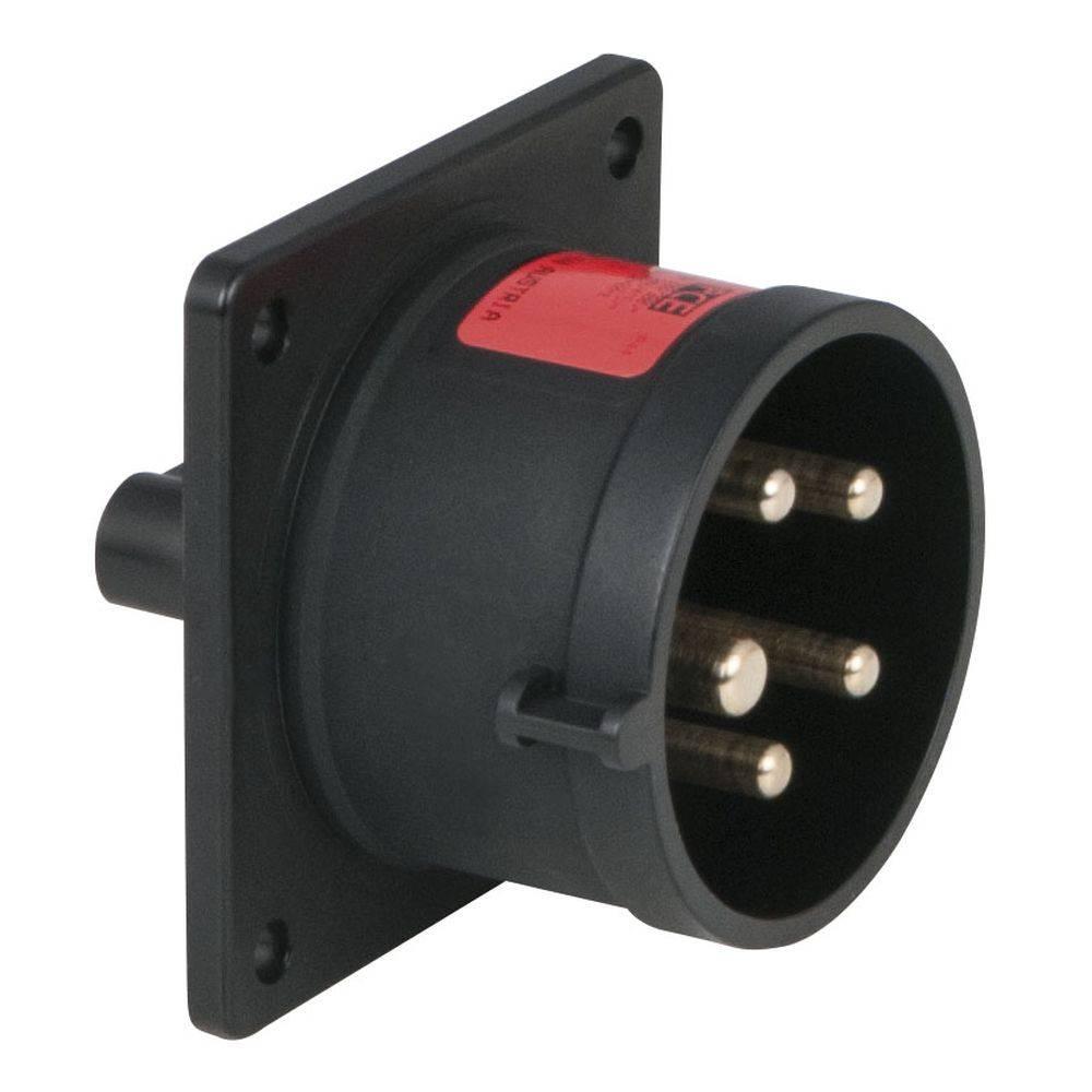 Image of PCE CEE 16A 5-polige inbouw socket male zwart