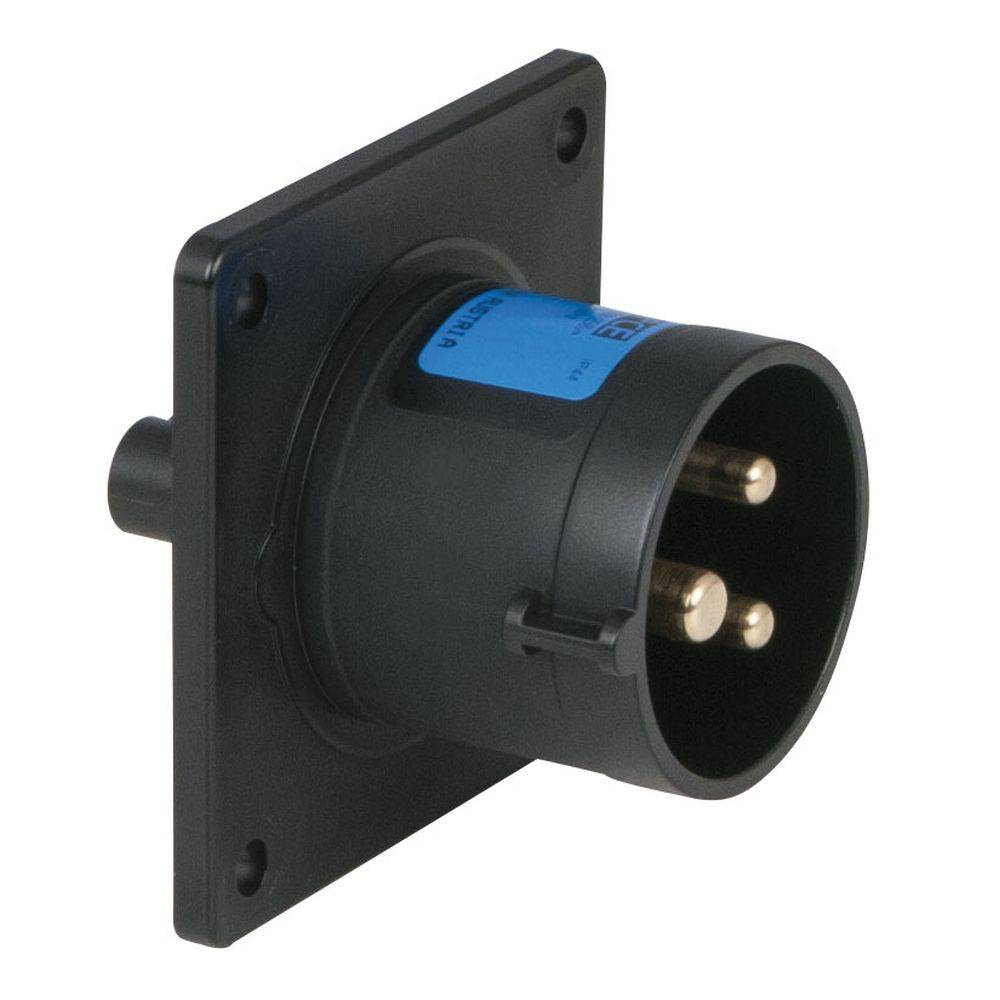 Image of PCE CEE 16A 3-polige inbouw socket male zwart