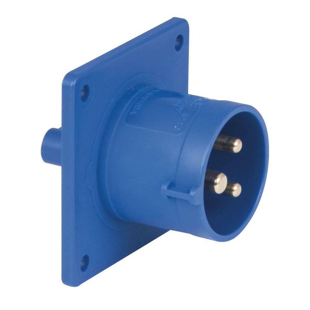 Image of PCE CEE 16A 3-polige inbouw socket male blauw