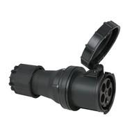 PCE CEE 125A 5-polige contrastekker IP67 zwart