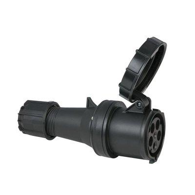 PCE CEE 63A 5-polige contrastekker IP67 zwart
