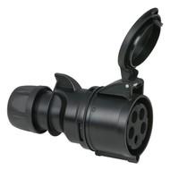 PCE CEE 32A 5-polige contrastekker zwart