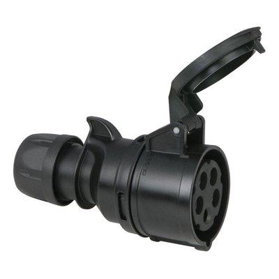 PCE CEE 16A 5-polige contrastekker zwart