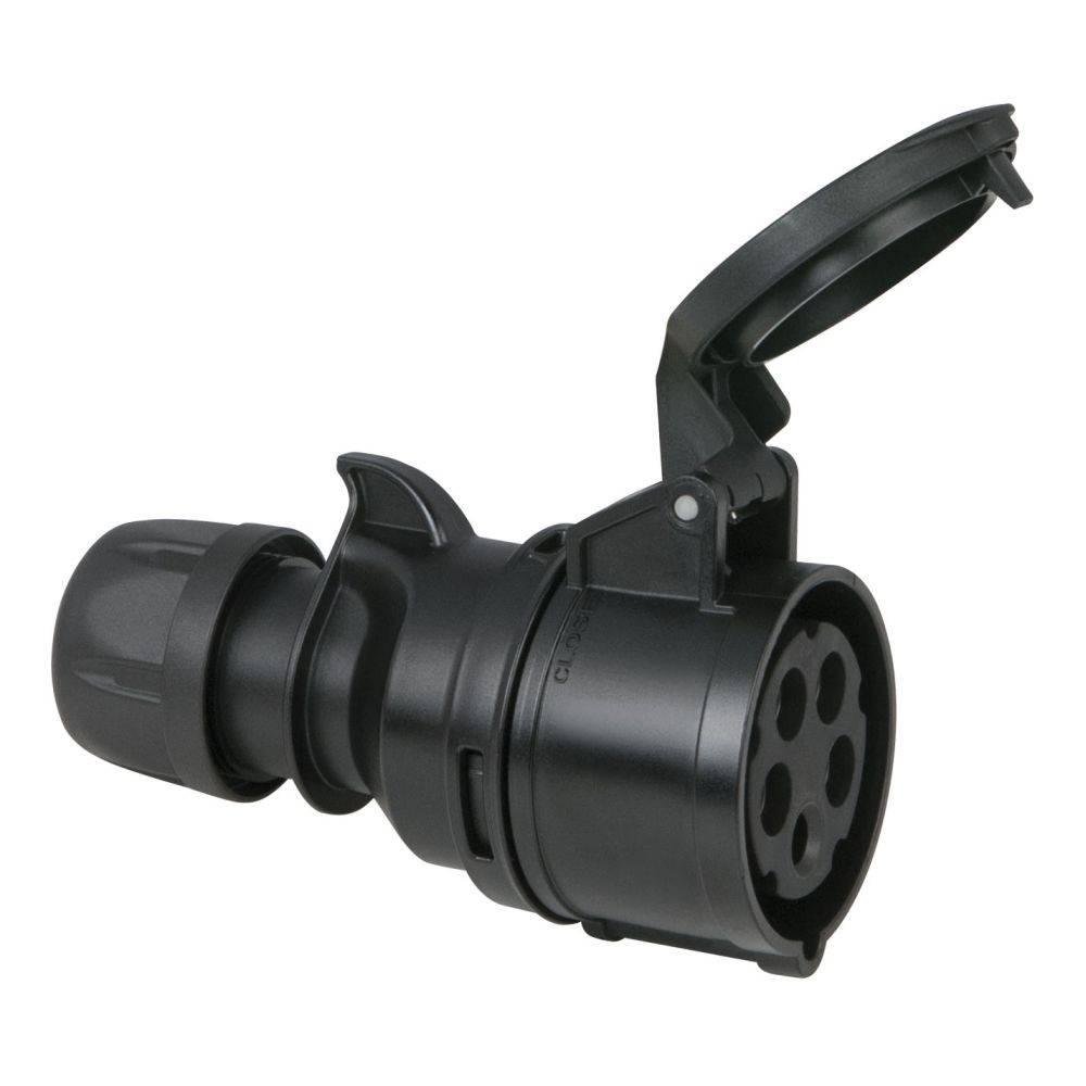 Image of PCE CEE 16A 5-polige contrastekker zwart