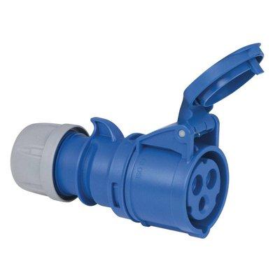 PCE CEE 16A 3-polige contrastekker blauw