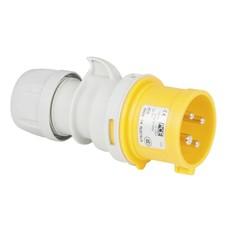 PCE CEE 16A 4-polige stekker geel