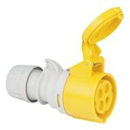 PCE CEE 16A 4-polige contrastekker geel