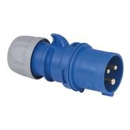 PCE CEE 16A 3-polige stekker blauw