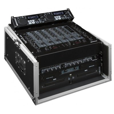 JB Systems DJ Case 10/6U Slant flightcase