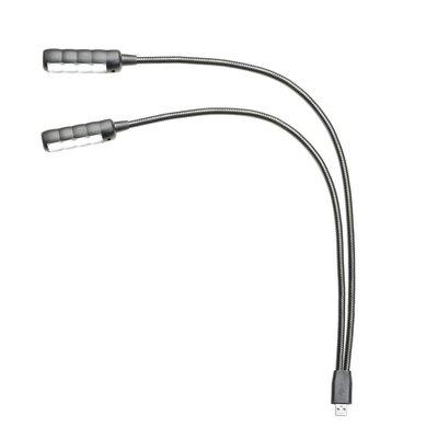 Adam Hall SLED 2 ULTRA USB Dubbele LED zwanenhalslampjes