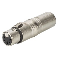 Neutrik NA3M5F XLR 3p male naar XLR 5p female adapter