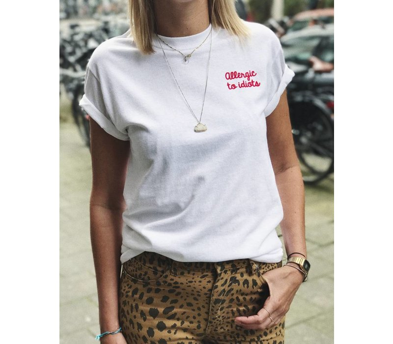 ALLERGIC TO IDIOTS T-SHIRT