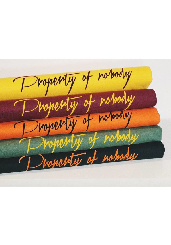 PROPERTY OF NOBODY T-SHIRT