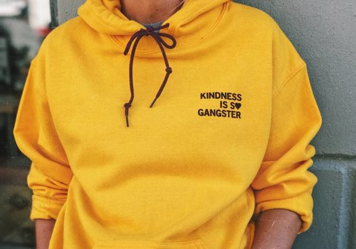 KINDNESS IS S♥ GANGSTER HOODIE