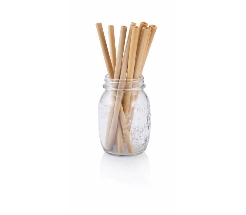 Bamboe herbruikbare rietjes